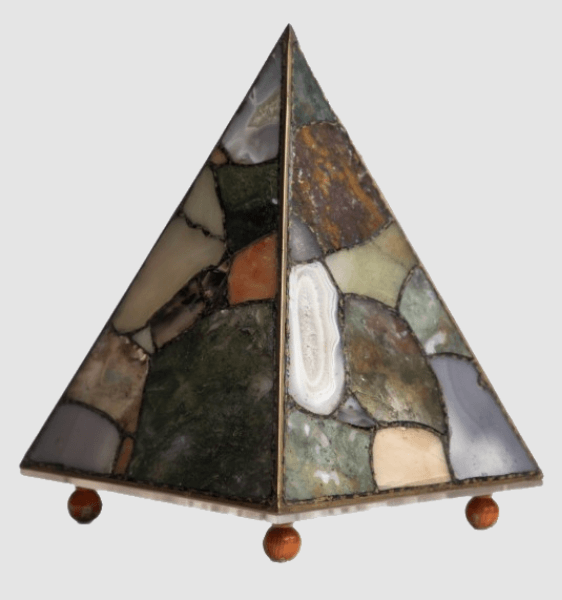 Handcrafted Natural Agate Stone Table Lamp