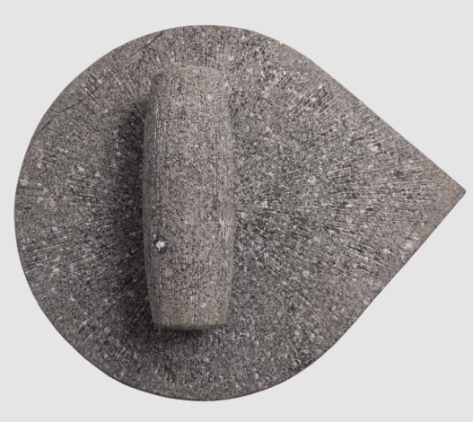 Traditional Grinding Stone – Pear Shaped (Natural Basalt Stone)